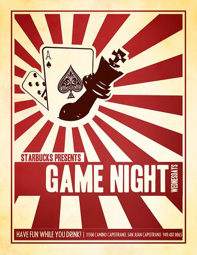 game night flyer design