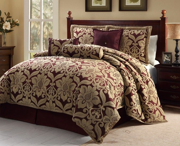 Luxury Comforters Sets Home Bedroom Luxury 7pc