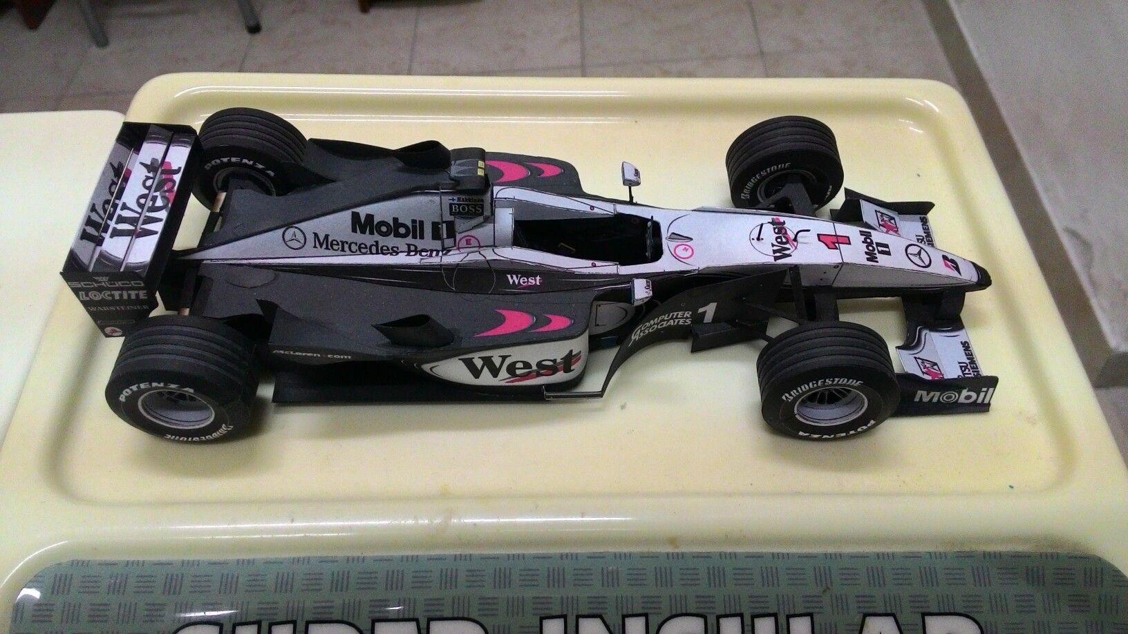McLaren MP4/15 papermodel. #formula1 #papermodel #papercraft #McLaren