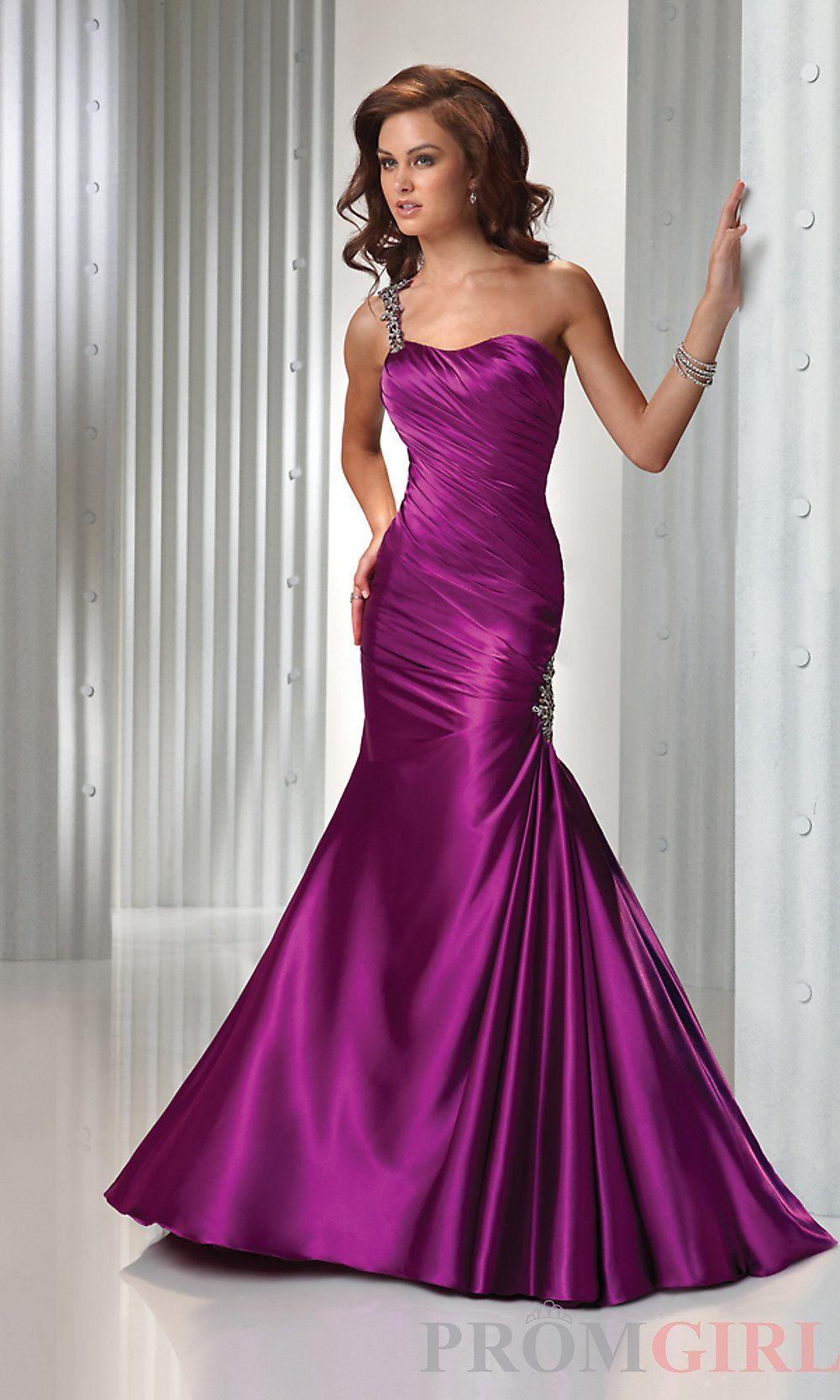 FrontView promgirl.com | Vestidos fucsia rosados magenta largos ...