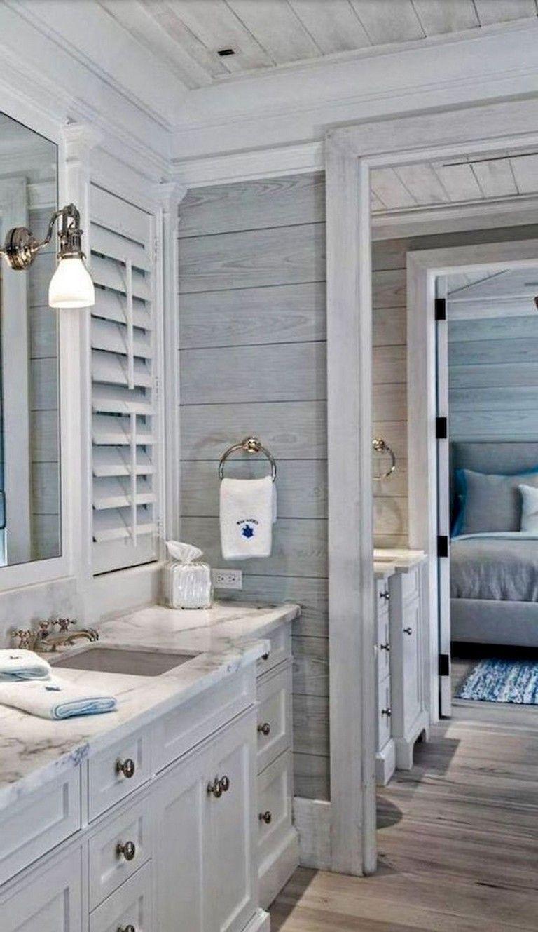 53 Passe Farmhouse Bathroom Remodel Ideas On A Budget Beach House Bathroom Coastal Bathroom Decor Cottage Bathroom Design Ideas