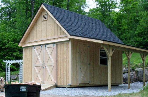12x16 … in 2019 | Barn style shed, Custom sheds, Shed storage