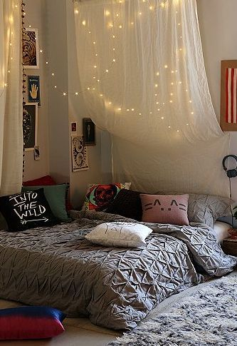 College Apartment Decorating Ideas firefly string lights | college apartments, apartments and room ideas
