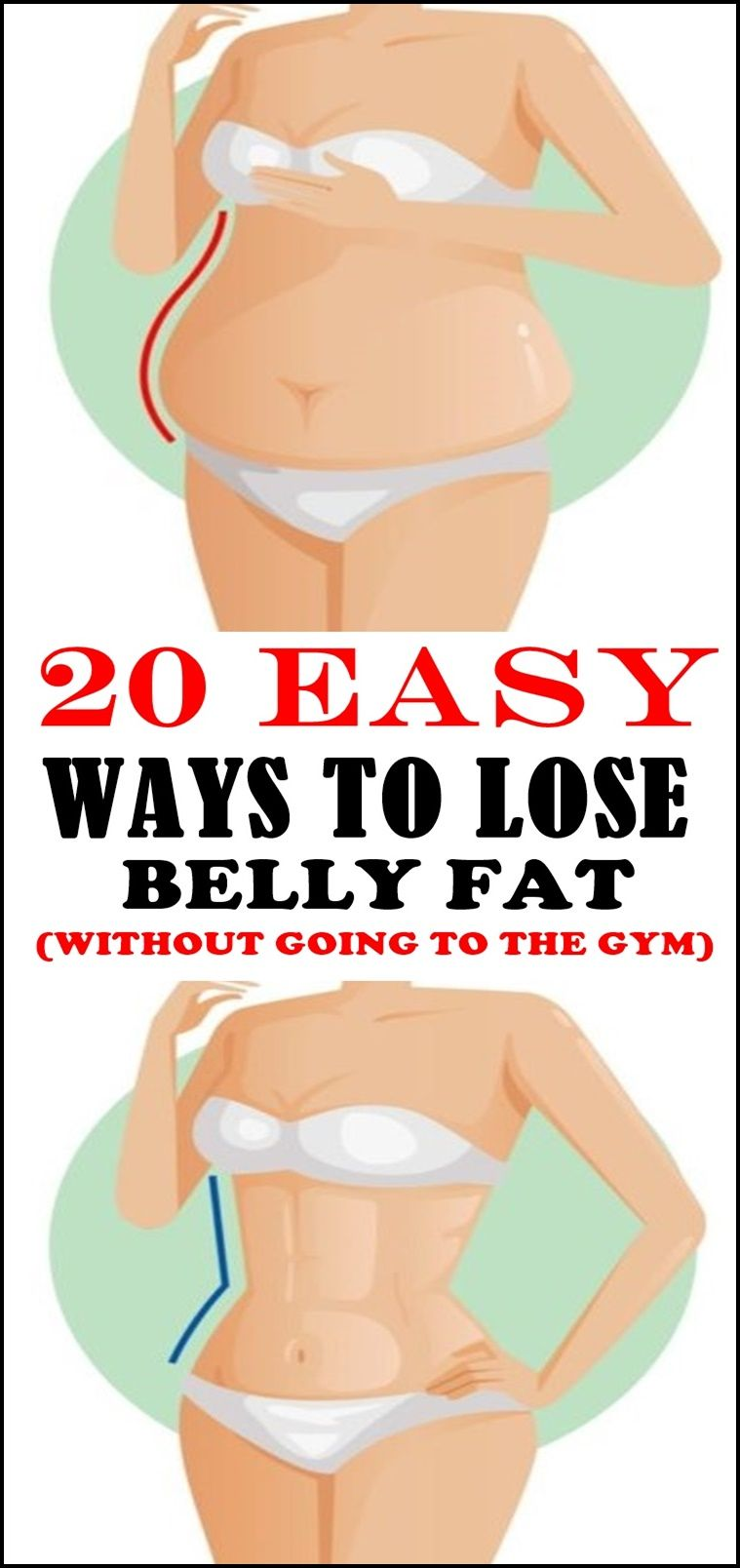 20 Easy Ways To Lose Belly Fat Without Going To The Gym Diet And
