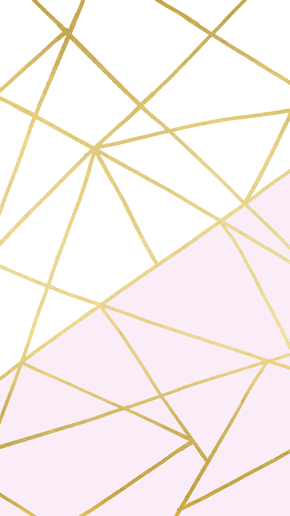 Pink White and Gold Geometric Wallpaper by @linesacross ...