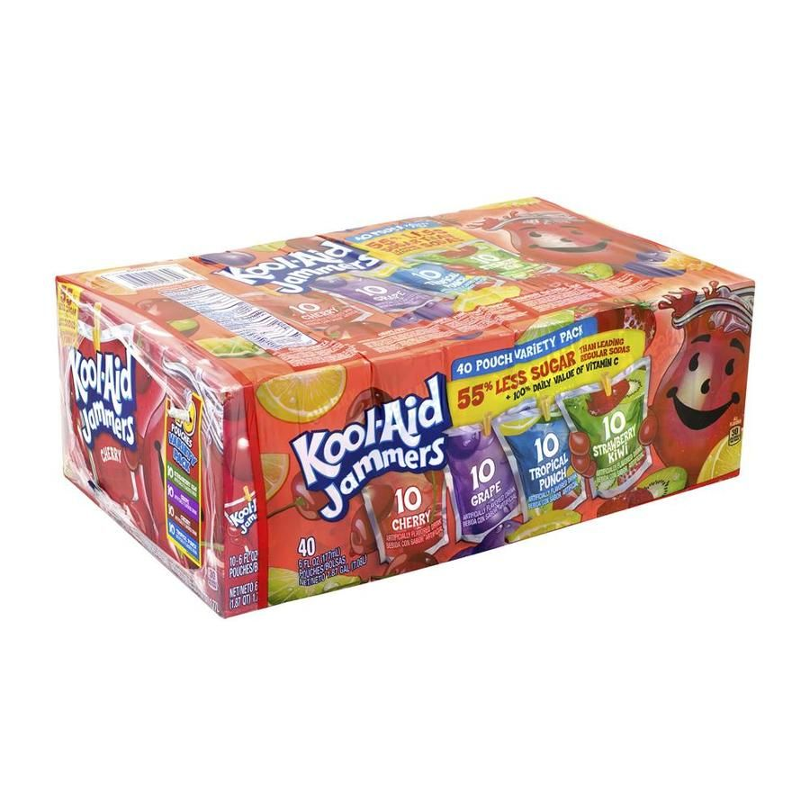 Kool Aid Koo Aid Jammers Juice Pouch Variety Pack 6 Oz 40 Lowes Com In 2021 Kool Aid Gold Baby Shower Favors Variety Pack