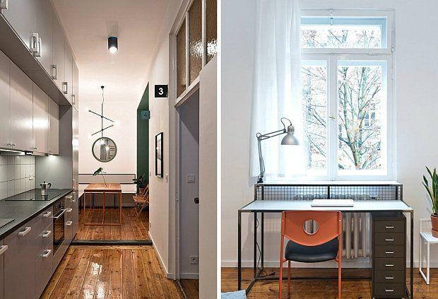 83-metrowe mieszkanie, znajduje się w kamienicy w centrum Poznania. Zaprojektowane zostało na wynajem.