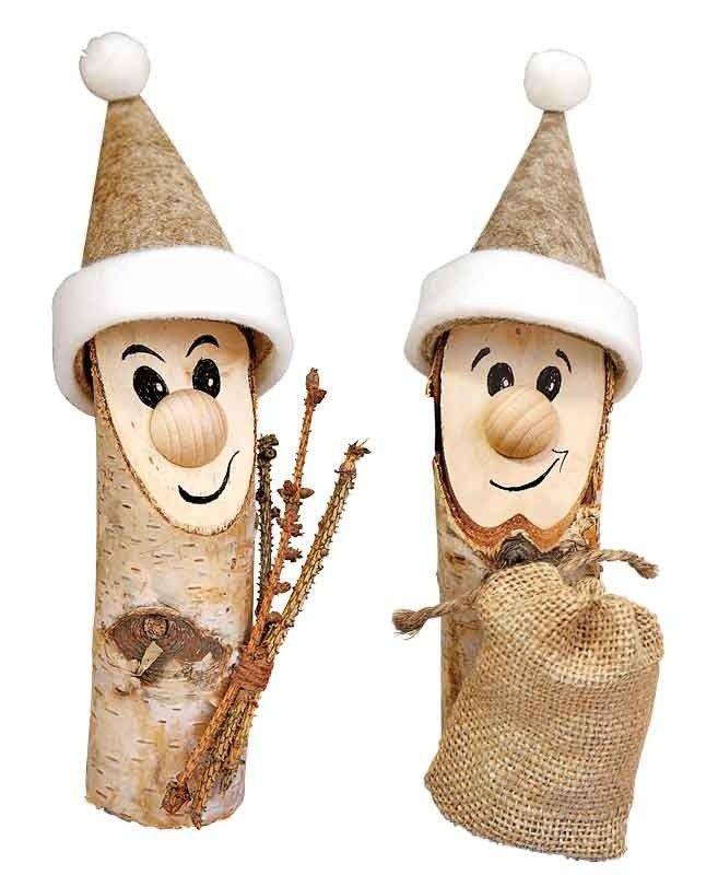 BRAUN Schulbedarf – Für Schule und Kindergarten  Birkenstämmchen dekoriert zu Weihnachten  #basteln in der grundschule #basteln in der schule #basteln im kindergarten #basteln in der kita #basteln in der krippe #kindergartenideen #braunschulbedarf #kreativtherapie #basteln mit senioren #Weihnachten #Arbeiten mit Holz #Holz #naturmaterialien #weihnachtsbastelnnaturmaterialien