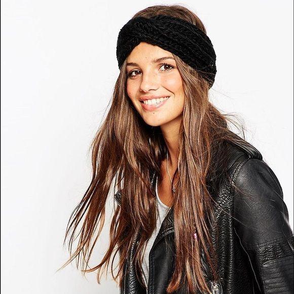 Knitted Headband In Black - Black Asos 8ckp1yf