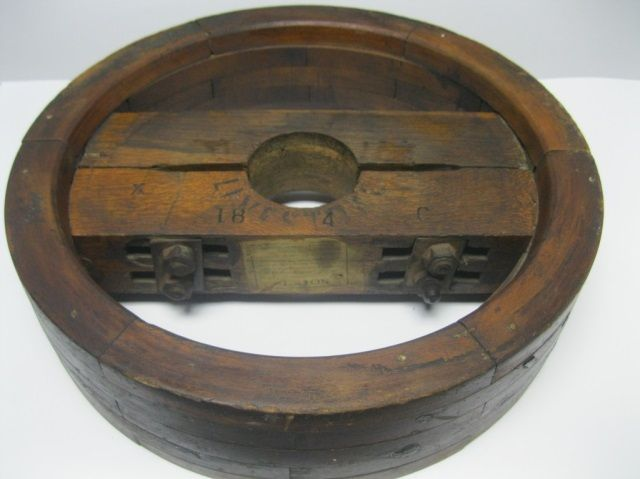1889 Wood Flat Belt Pulley Wood Pulley Auction