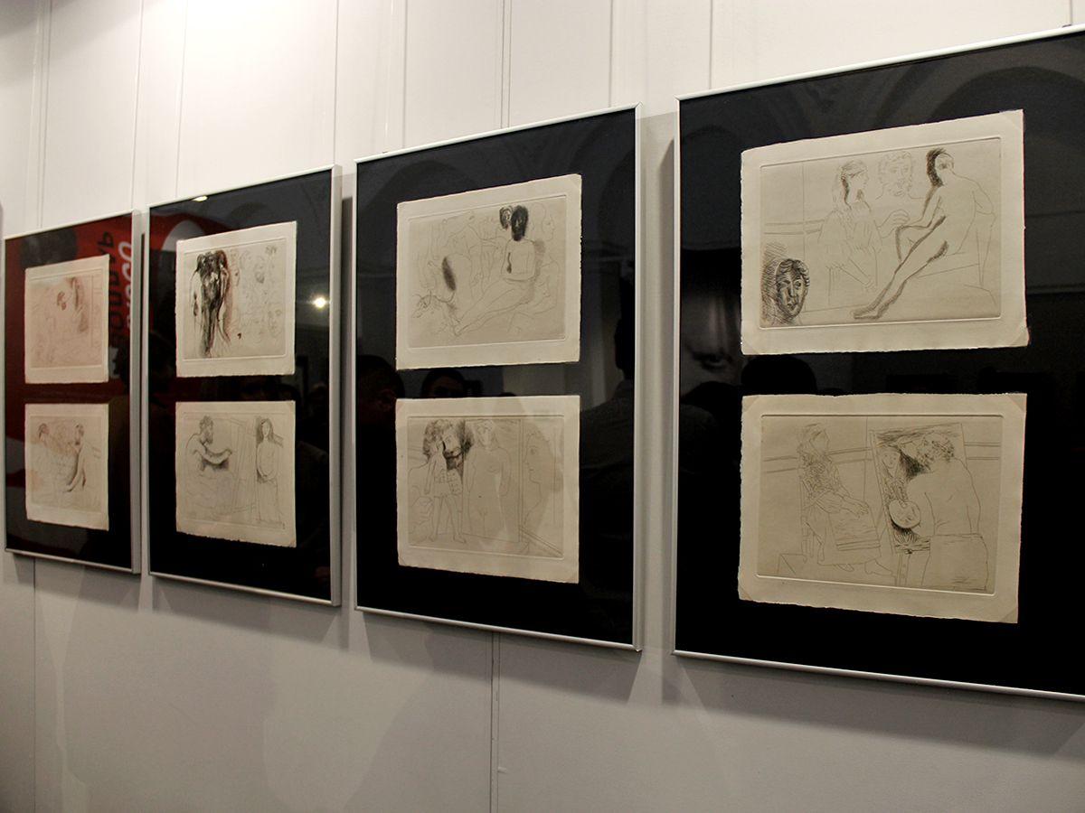Иллюстрации к новелле Бальзака «Неведомый шедевр» были заказаны Амбруазом Волларом в 1926 году