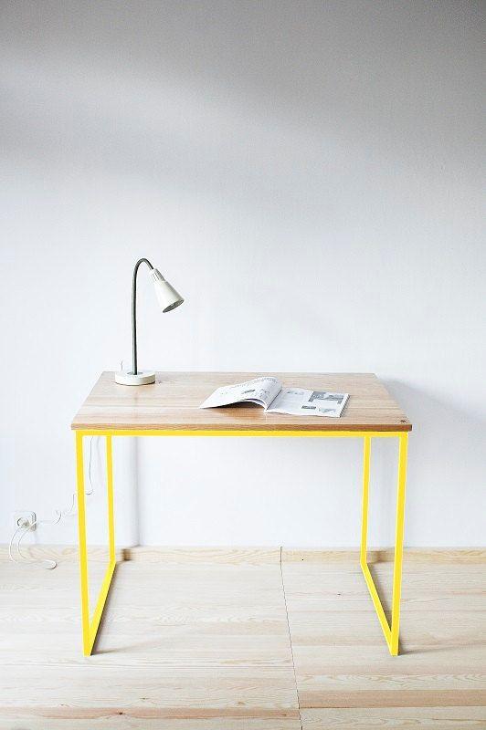 "Office desk, desk, table , Industrial series ""Industrial Yellow"""