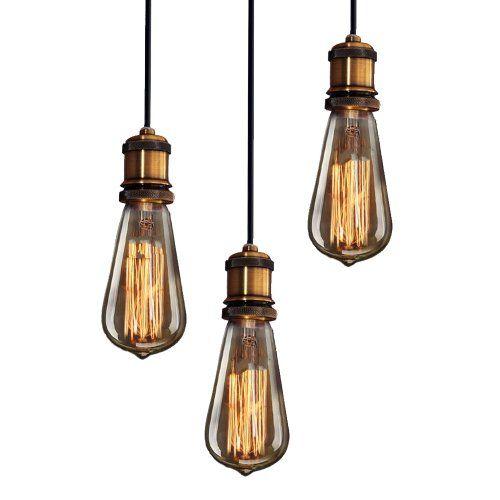 Purelume Ampoule Vintage Laiton Vieilli Pendeleuchte Lampe