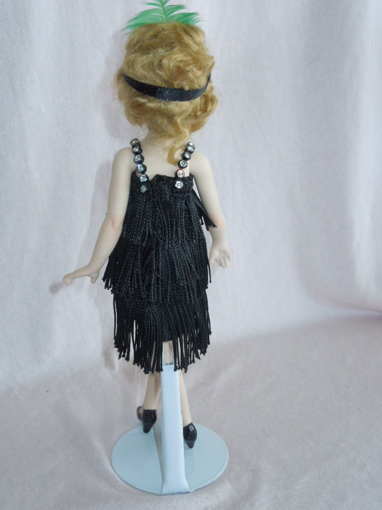 UNUSUAL and Lovely Little Flapper Lady by Artist Lorraine DeFeno from gandtiques on Ruby Lane