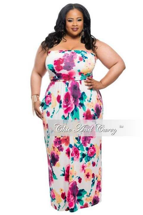 Длинные платья для полных женщин американского бренда Chic & Curvy ...
