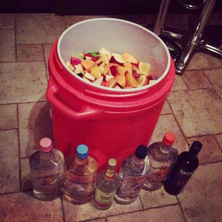 Fresh Fruit, Hunch Punch With Vodkas
