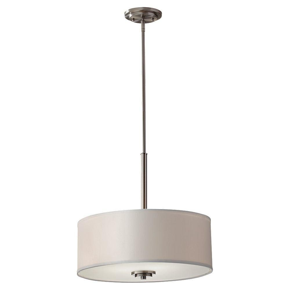 modern lighting concepts. You Can\u0027t Go Wrong With A Classic Drum Pendant. Three Light Brushed Steel Modern Lighting Concepts
