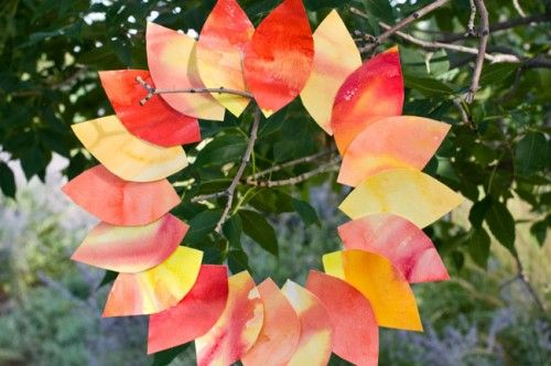 Watercolor leaves - do for November & write thanks on each leaf...