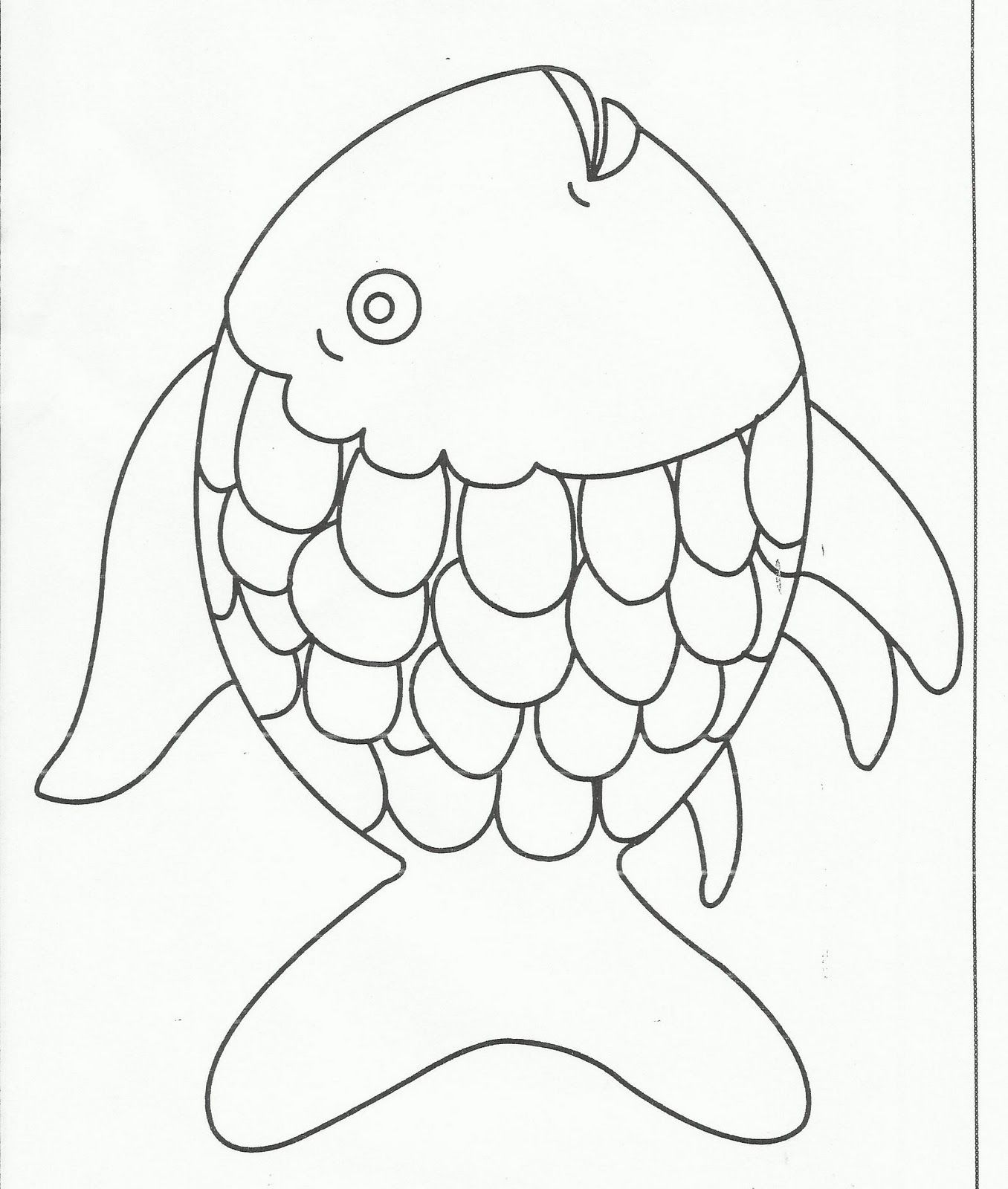 Free coloring pages fish - Rainbow Fish Coloring Page Free Large Images