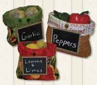 Pantry Bag Pattern includes instructions for 3 sizes. Great storage for vegetables in a pantry. Make these fun projects with farmer's market fabric or any kitchen inspired fabric. Samples are made using Farmer's Market Fabric from RJR Fabrics. Also useful for organizing and storing many small items around the house. http://www.kayewood.com/item/Pantry_Bags_Pattern/2021 $8.00