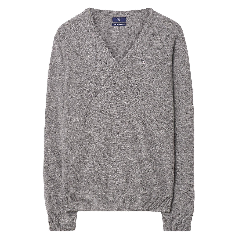 c136f99233e3 GANT Damen Superfeiner Lambswool Pullover (XS) Grau Jetzt bestellen unter   ...