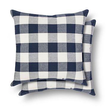 Gingham Throw Pillow 2 Pack Threshold Throw Pillows Pillows Throw Pillow Sets