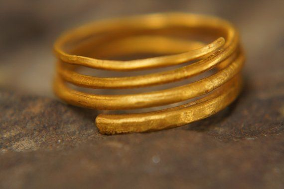 1a05c6b0e3a ONE stacking gold ring //24k yellow gold //hammered handmade ring//one of a  kind//thin stacking gold ring//24k solid gold//24k wedding ring