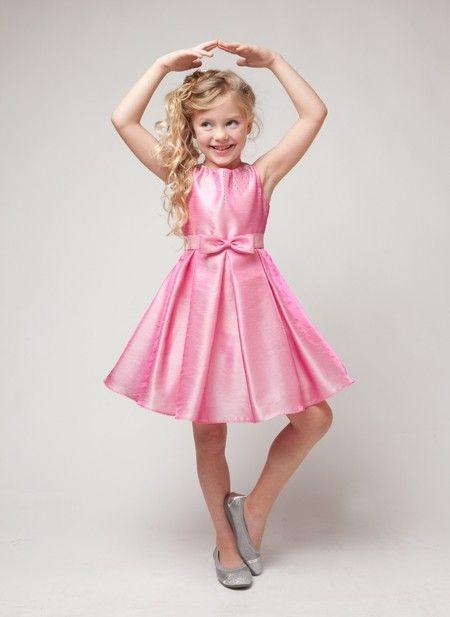 8940183fc23e Two Tone Tinkerbell Pink Metallic Shantung Dress by Elitedresses.com ...