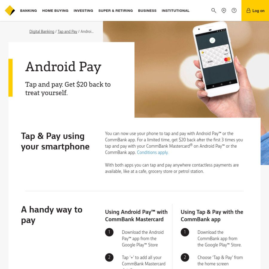 Commonwealth Bank - Get $20 Back after The First 3 Times You Tap and ...