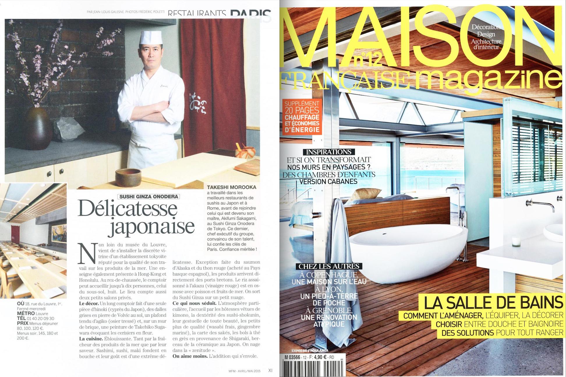 Sushi Ginza odera Paris dans le Maison Fran§aise Magazine d Avril