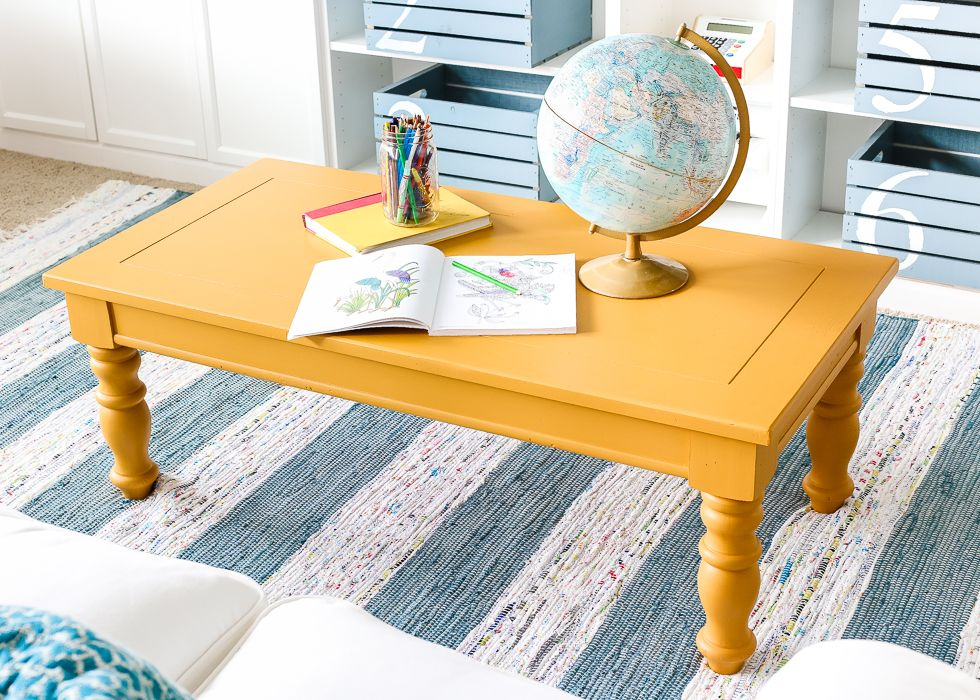 Astonishing Mustard Playroom Coffee Table Makeover For The Home Dailytribune Chair Design For Home Dailytribuneorg