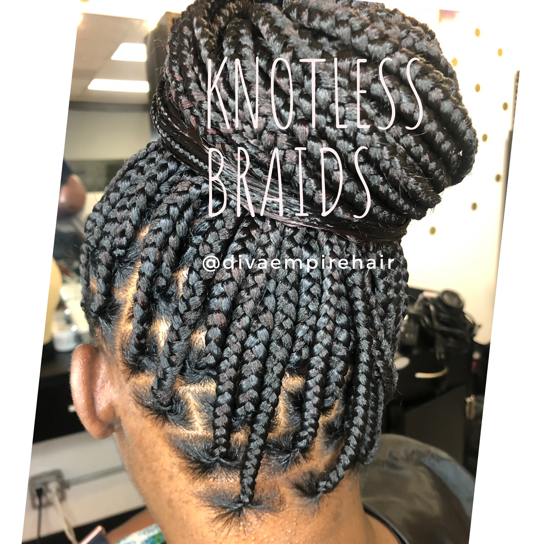 Knotless Braids Into A Bun Braided Updo Styles Braided Hairstyles Easy Braids Hairstyles Pictures