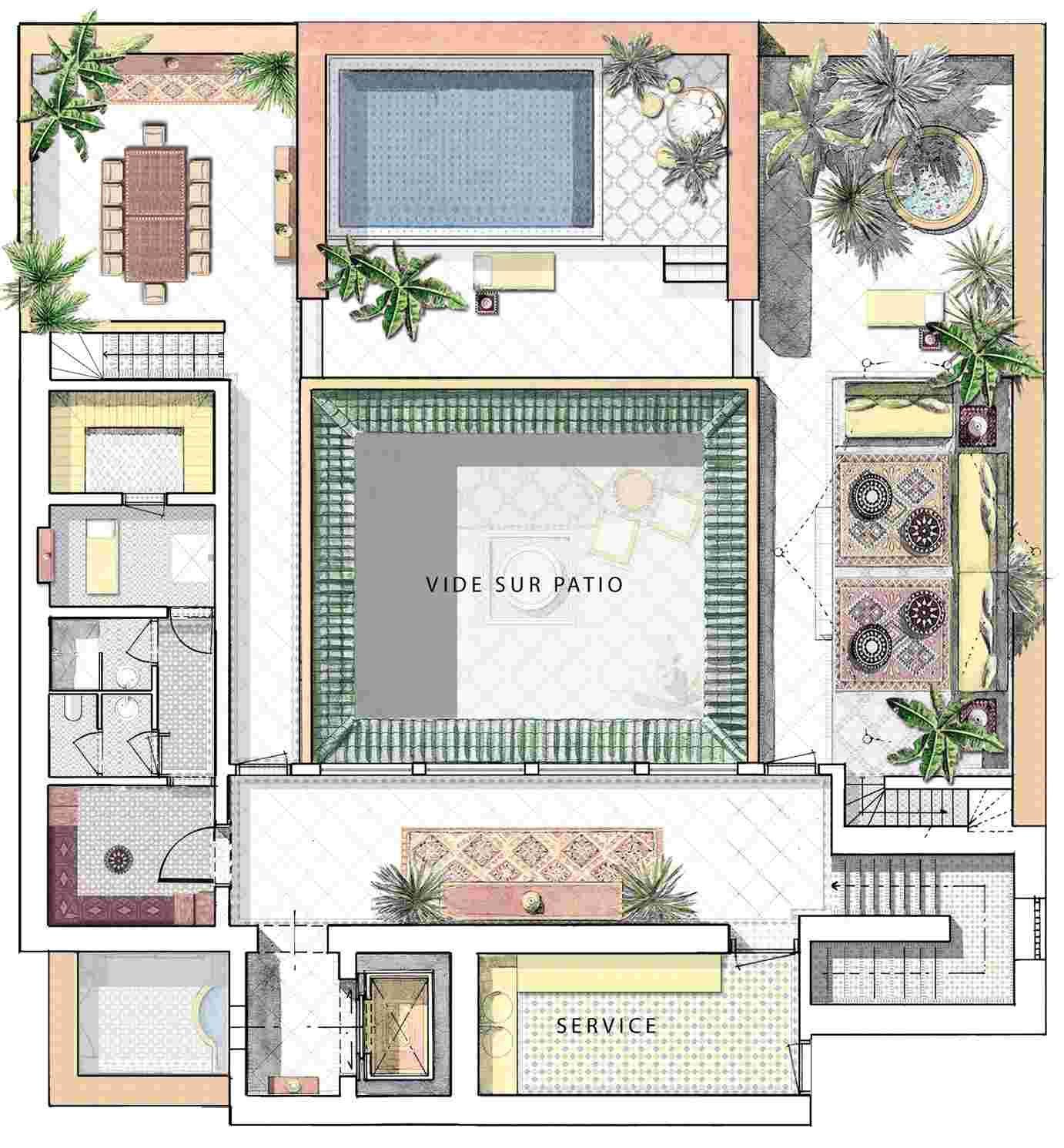 Luxury Riad In Marrakesh Prestigious Collection Courtyard House Courtyard House Plans Interior Garden