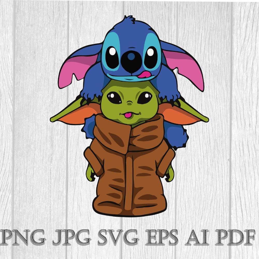 Baby Yoda Baby Yoda Stitch Svg Star Wars Svg Baby Yoda Etsy In 2021 Cute Disney Drawings Yoda Wallpaper Cute Cartoon Wallpapers