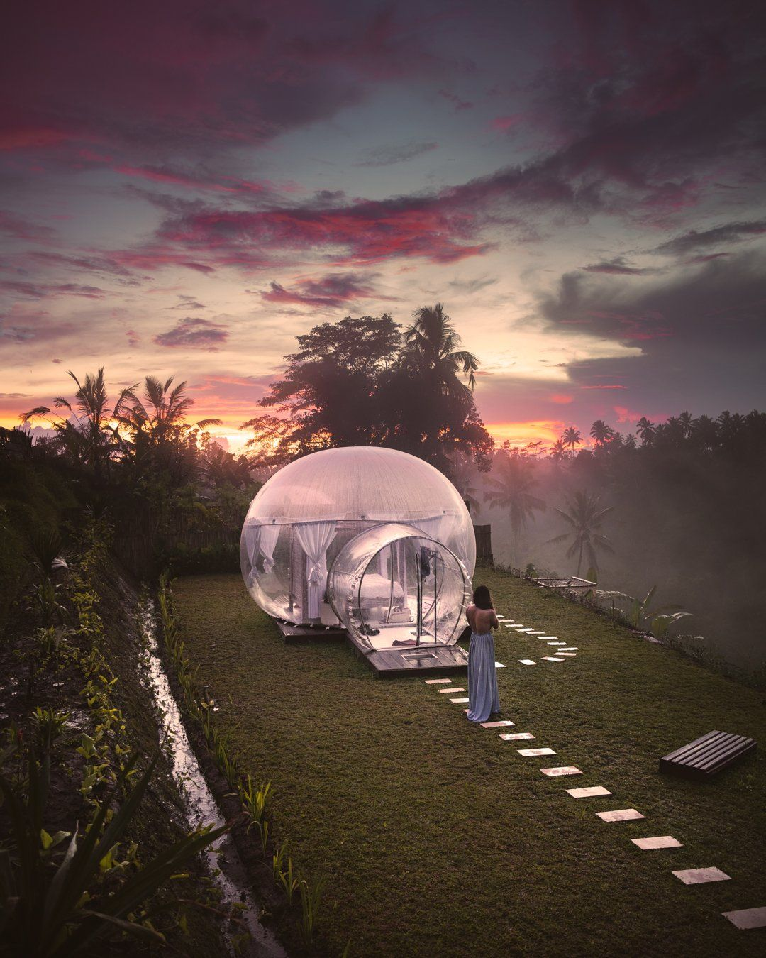 Is The Bubble Hotel Ubud In Bali Worth It In 2020 Garden Igloo Glamping Resorts Bali Sunset