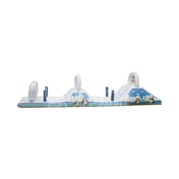 10M floating obstacle course, fun slides water game for kids and adults. Creat your own water park with sunjoy inflatables.