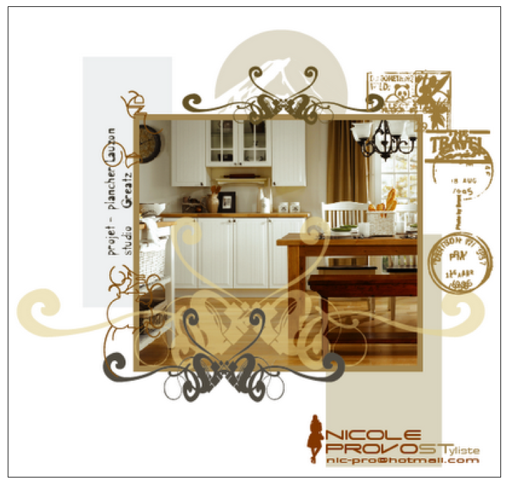 kitchen created in a photo studio- stylism & presentation design by Nicole Provost