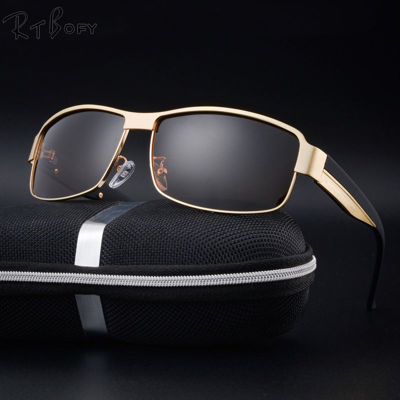 b1eb927fe7 RTBOFY Brand Designer Polarized Sunglasses Men Polaroid Sunglass Male  Driving Sun Glasses for Men Oculos De
