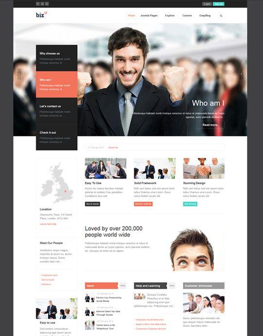 Ja biz template site design and typography ja biz responsive joomla template for business joomlart joomla templatestemplates freesite flashek Choice Image