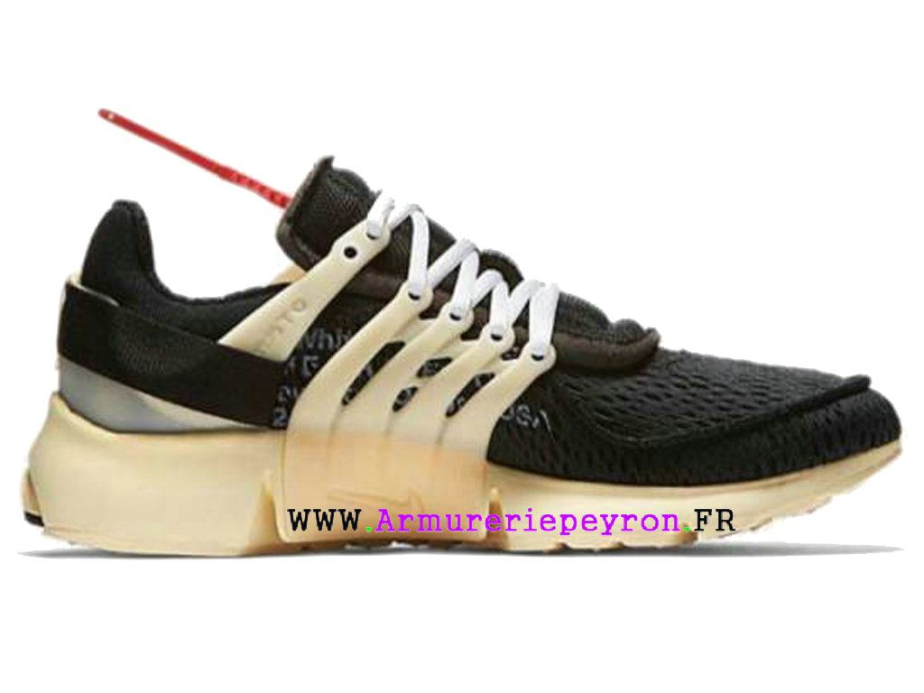 f51c003a718 2018 Nouvelle Coutume Off-White X Nike Air Presto Prix taille des hommes Noir  Blanc