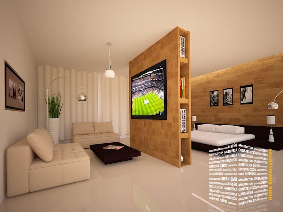 Recamara con sala de tv dormitorios modernos de ho