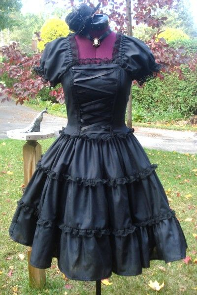 Hey, I found this really awesome Etsy listing at https://www.etsy.com/listing/82278427/dark-romantic-gothic-lolita-dress-small