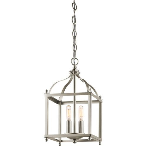 Kichler kk42565ni larkin mini pendant pendant light brushed nickel at ferguson com