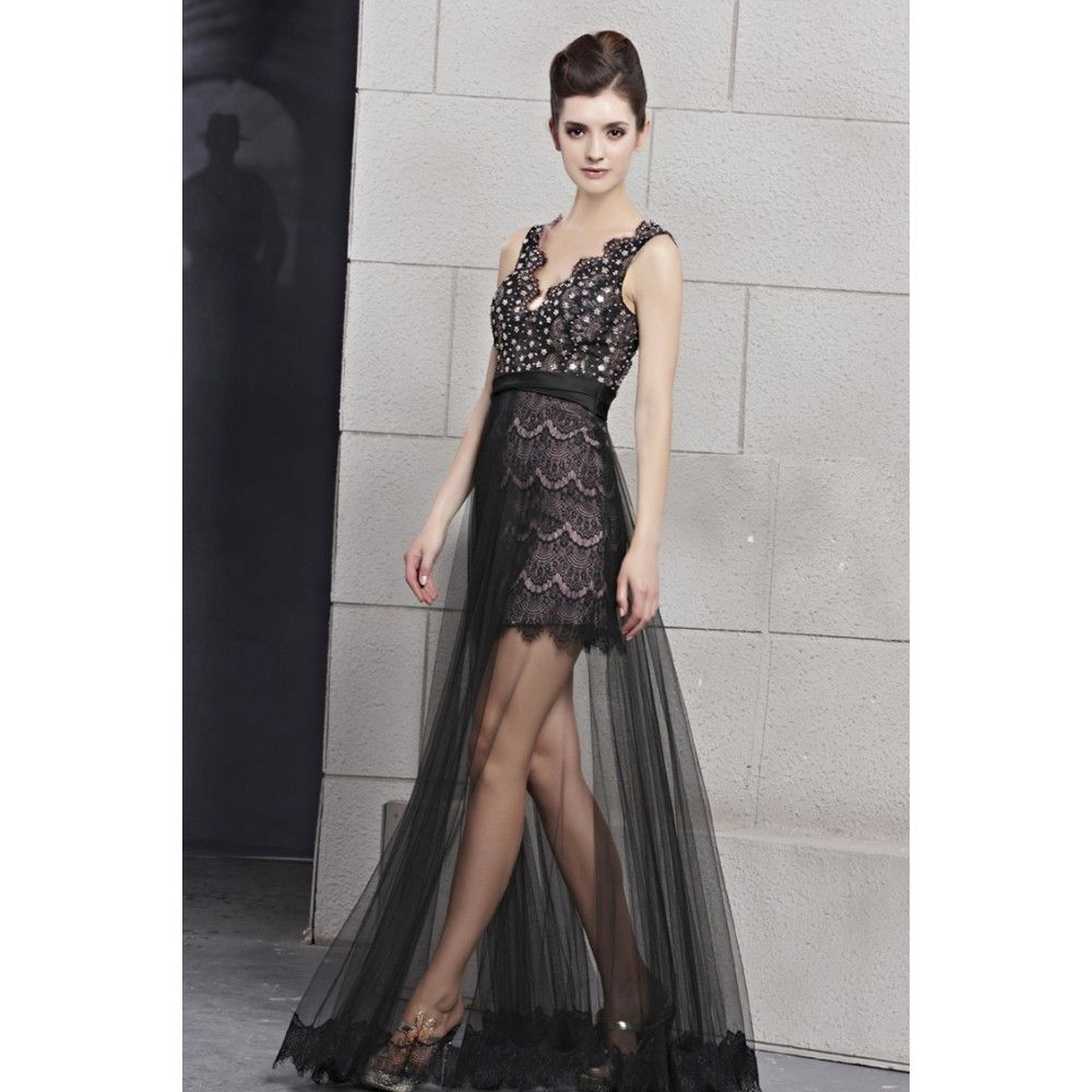 How to wear a lace dress wear dress a line v neck beading lace