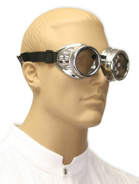 Chromed Mad Science Goggles - Clear Lens [003293] ~ can change the color of lenses
