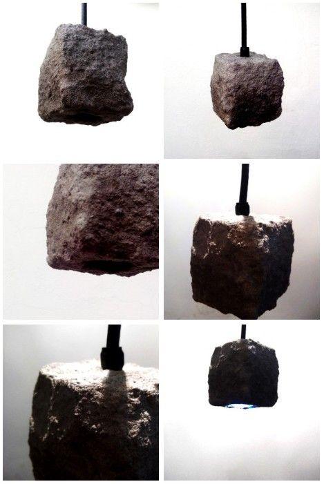 Lampara de Cemento Concreto colgante Puntual Iluminacion KFcTlJ1