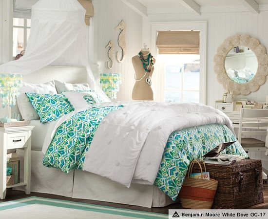 beach theme bedding hawaiian theme bedrooms and beach themed rooms - Themed Teenage Bedrooms