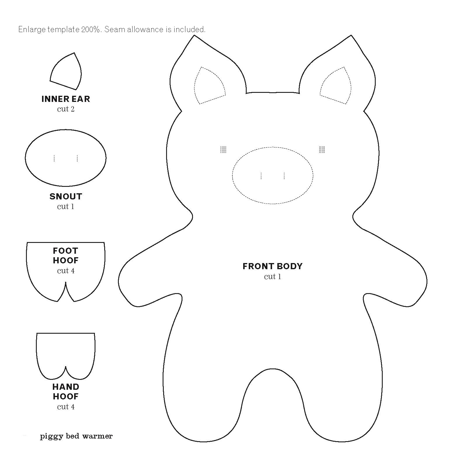 Pig cut out template215773g 15861603 felt pinterest pig cut out template215773g 15861603 pronofoot35fo Images