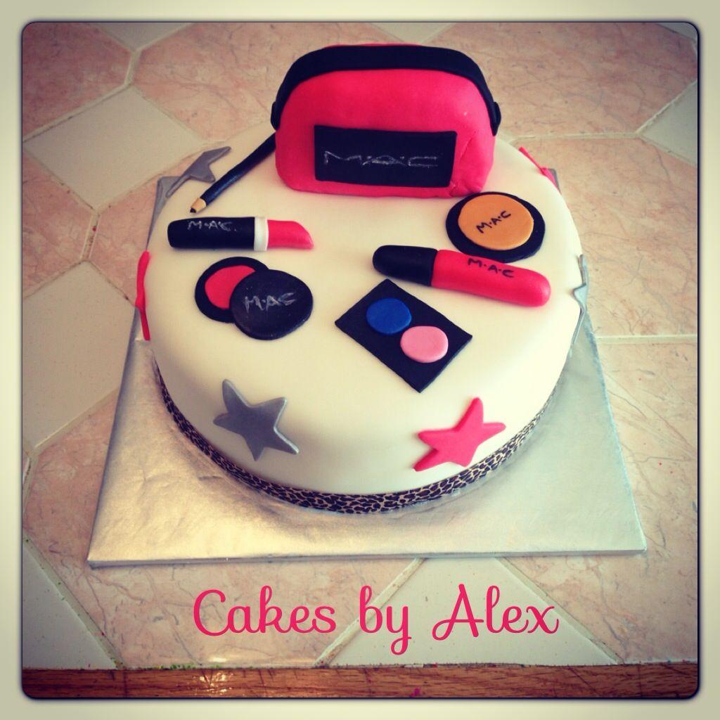 Mac Makeup Birthday Cake Birthday Cakes Pinterest Makeup