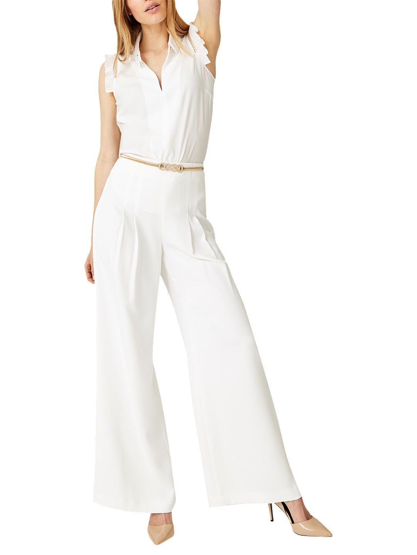 cd6858f8e2 Damsel in a Dress Lena Wide Leg Palazzo, White in 2019 | Body shape ...